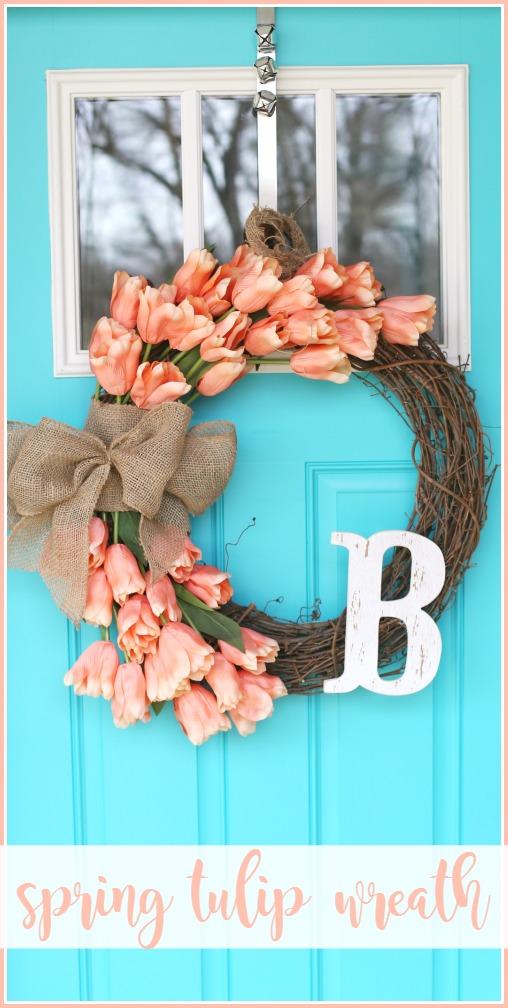 Spring Tulip Wreath how-to diy