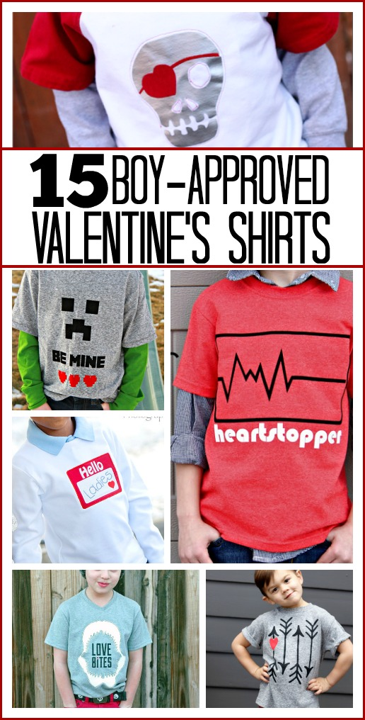 boy approves valentines shirts