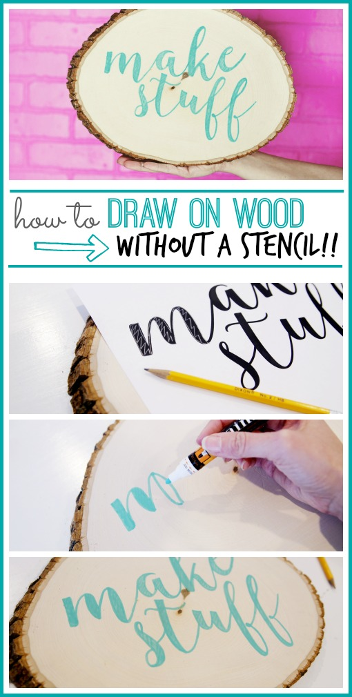 draw on wood without a stencil