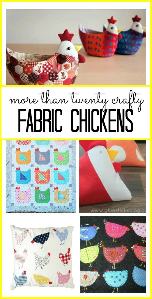 fabric chickens