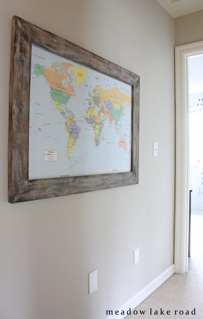 hallway-with-framed-map