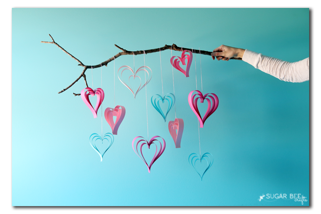 how to make paper strip hearts