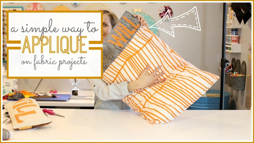 simple way to applique how-to tutorial