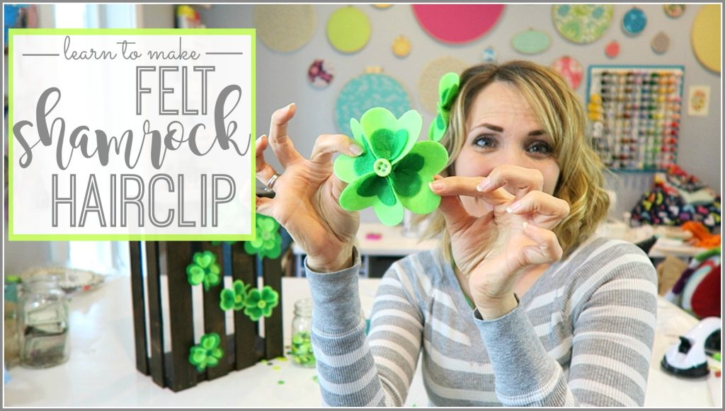 Felt Shamrock Hairclip Tutorial text