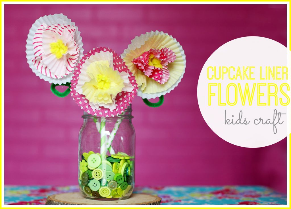 cupcake liner flowers kids craft