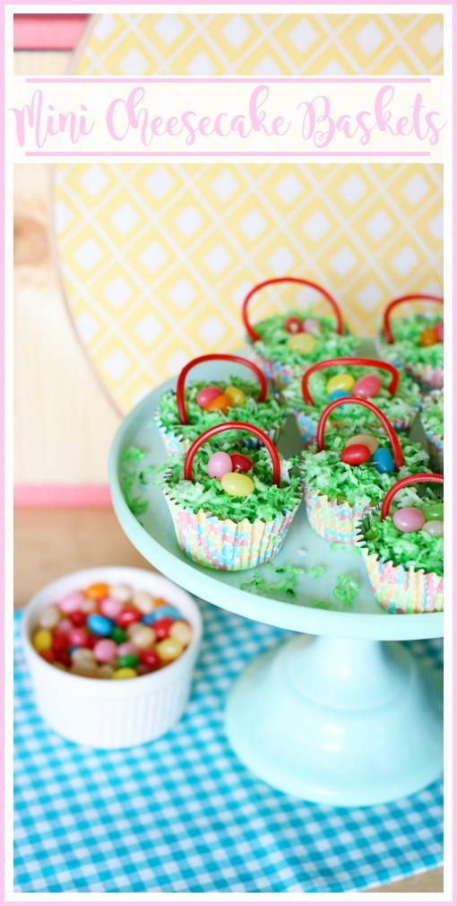 mini cheesecake baskets easter treat