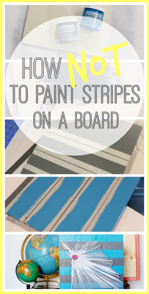paint stripes on a board
