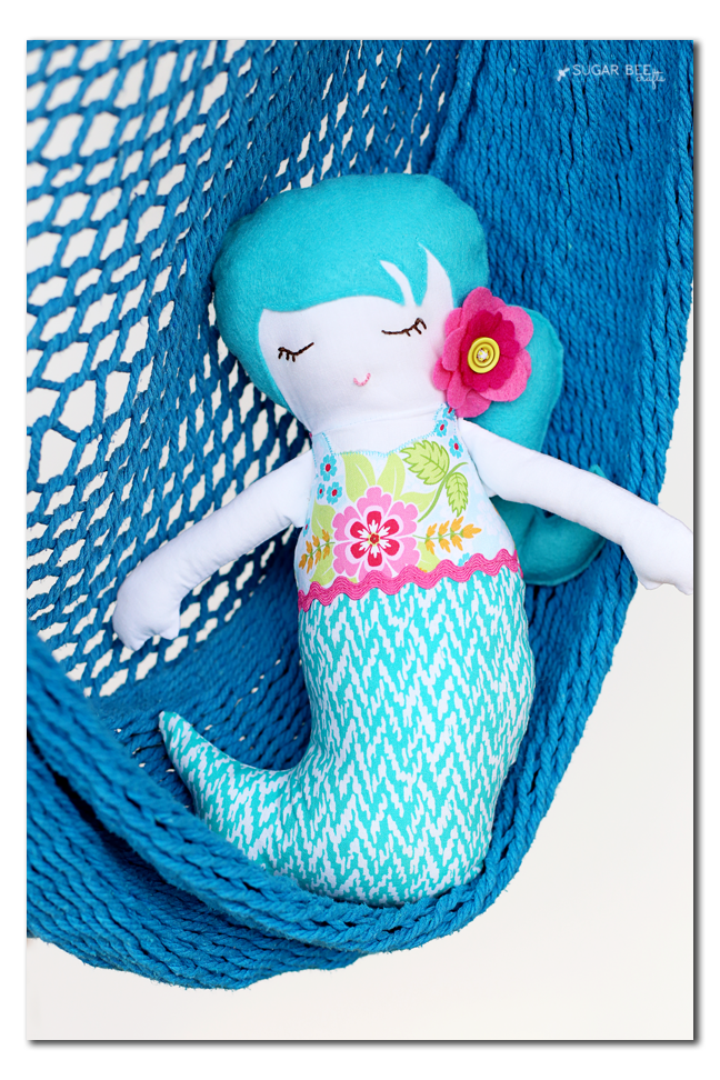 simplicity 8067 mermaid doll felt fabric