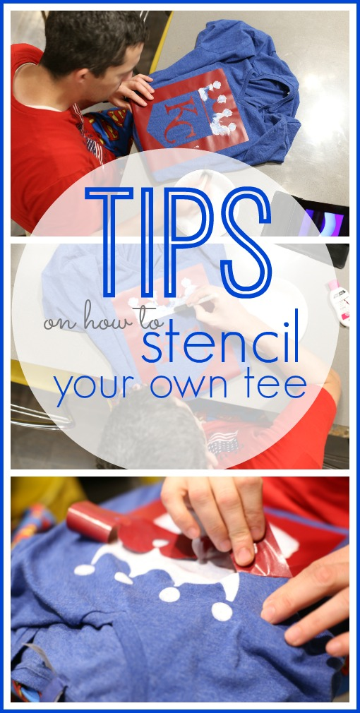 tips on how to stencil tshirt