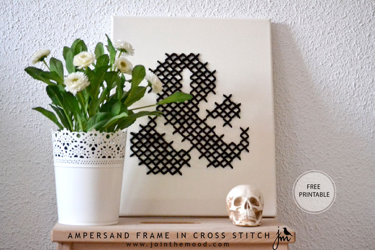 AMPERSAND-FRAME-IN-CROSS-STITCH