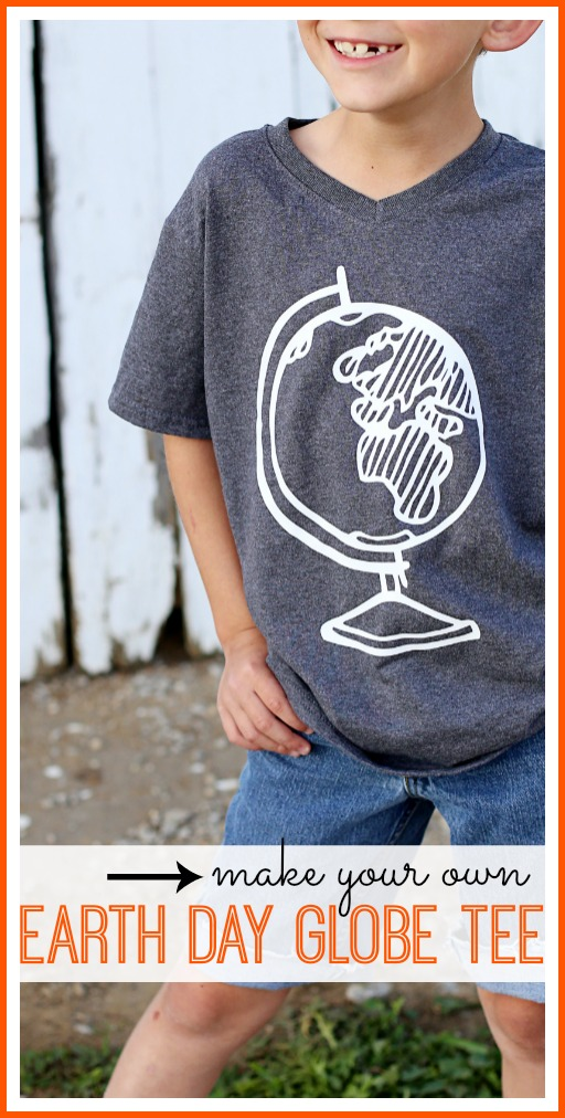 diy earth day globe tee