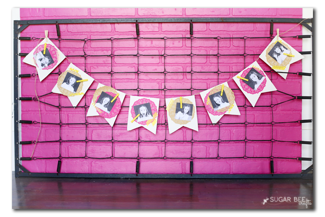 diy photo party banner