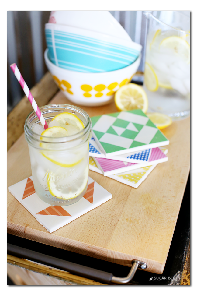diy tile coaster inspired by barn quilts
