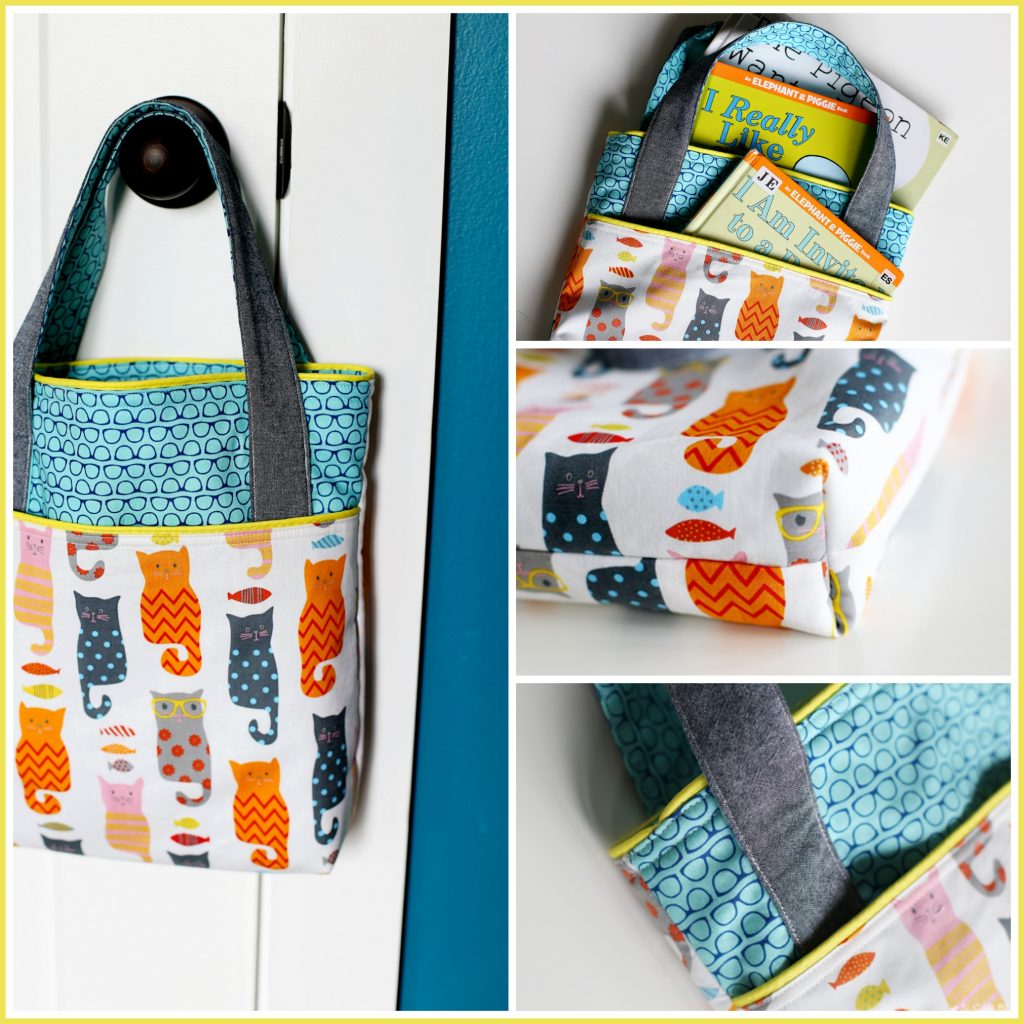 Library Pocket Tote Bag