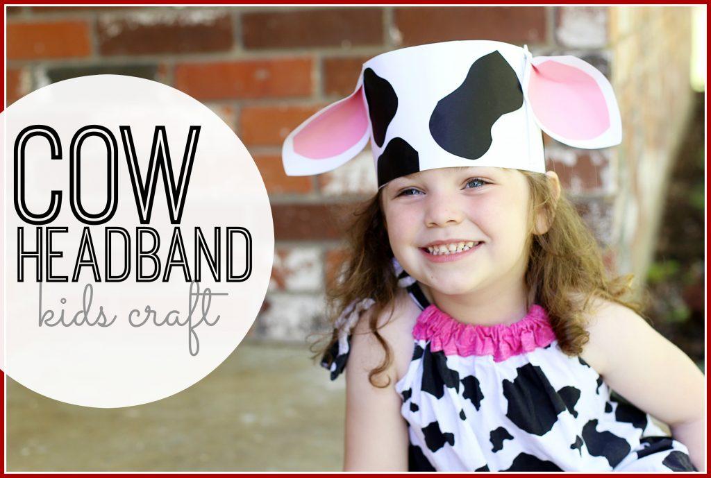 cow headband kids craft dairy