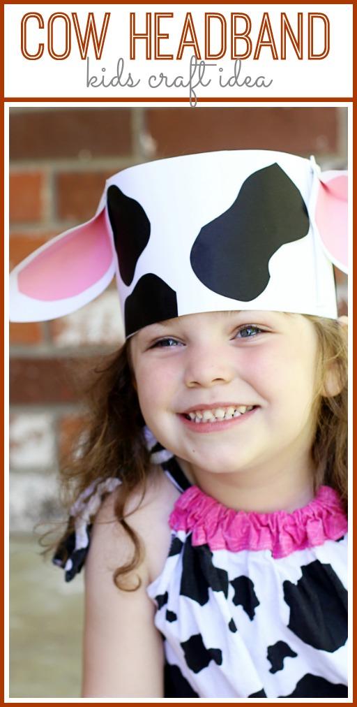 cow headband kids craft idea
