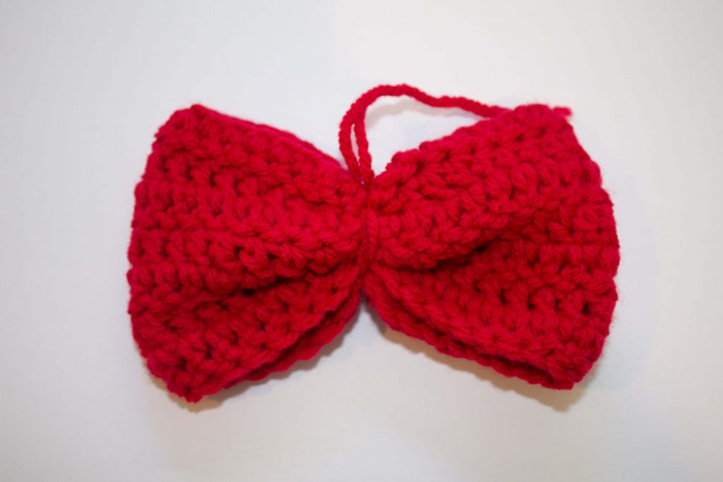 crochet red bow