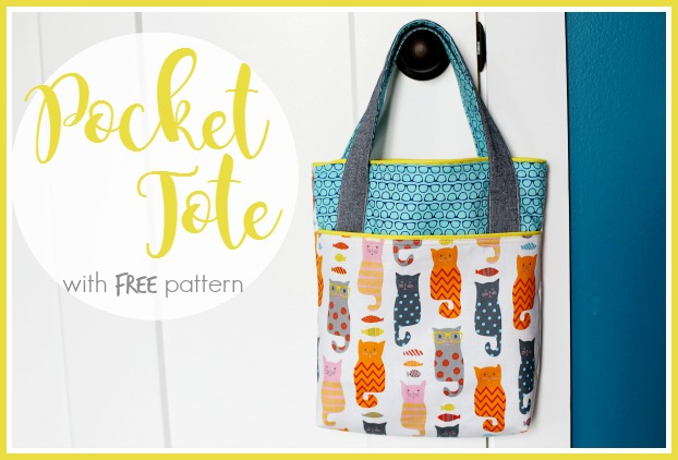 How to Make a Tote Bag With Pockets | Library Bag Tutorial & Free ...