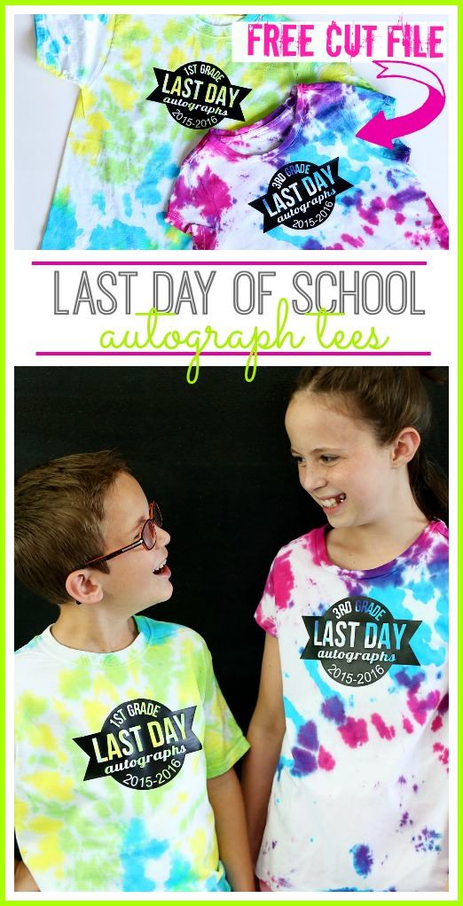 last day of school autograph tees with FREE cut file