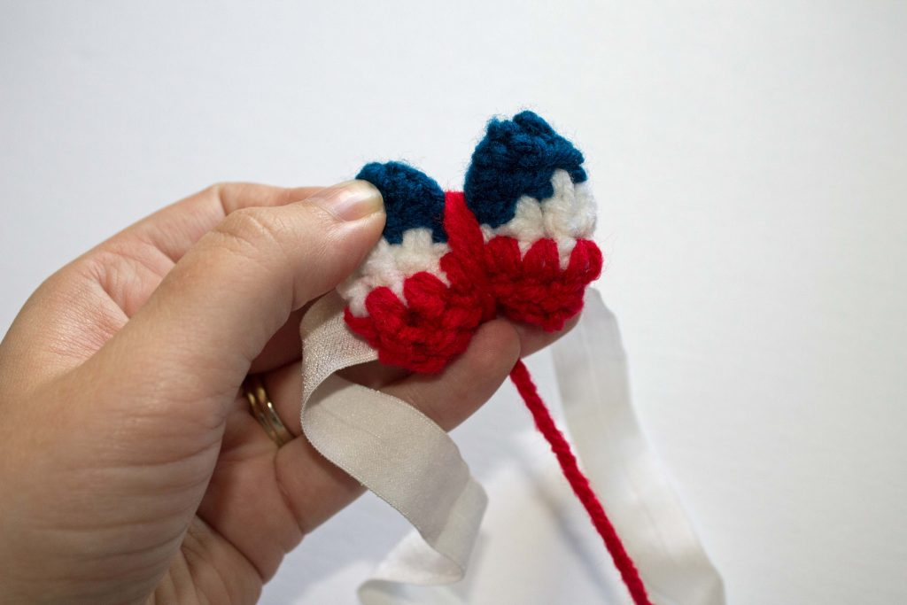 patriotic bow wrap