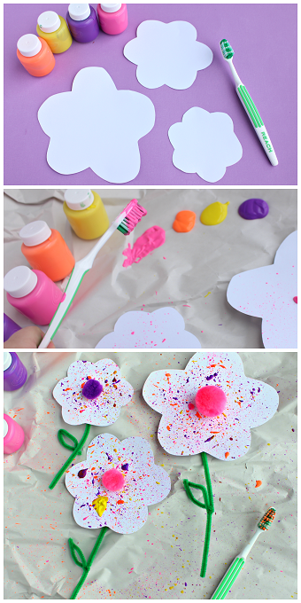 toothbrush-splatter-flower-kids-craft