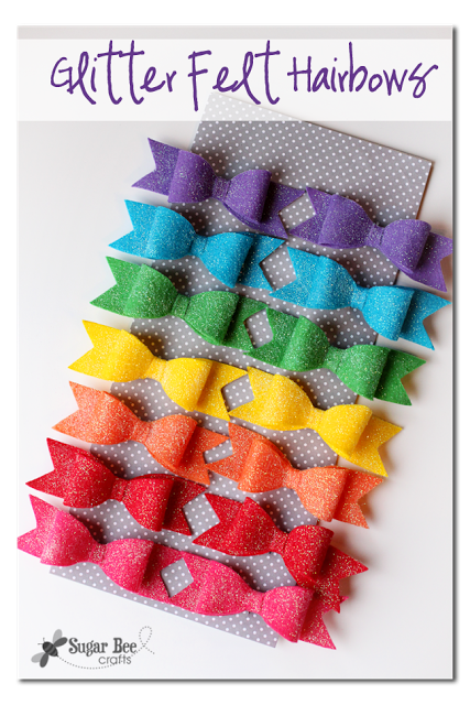 DIY how to make glitter felt hairbows