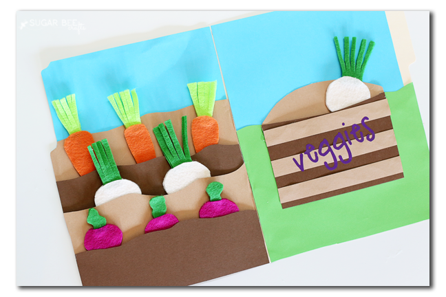 felt vegetable activity game to make yourself