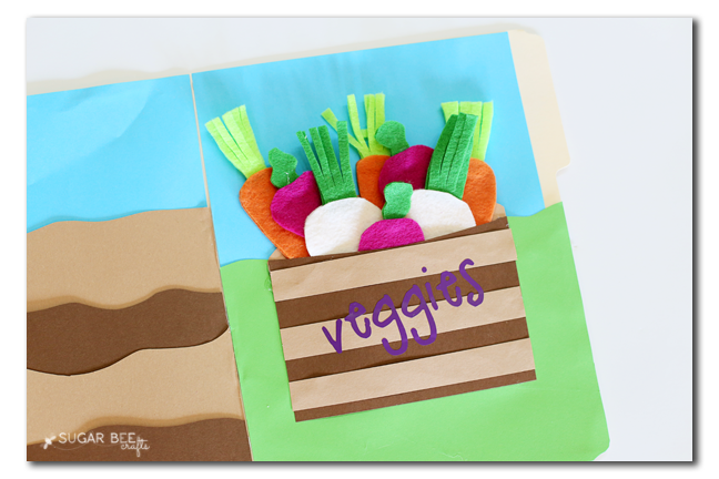 felt veggie file folder game activity