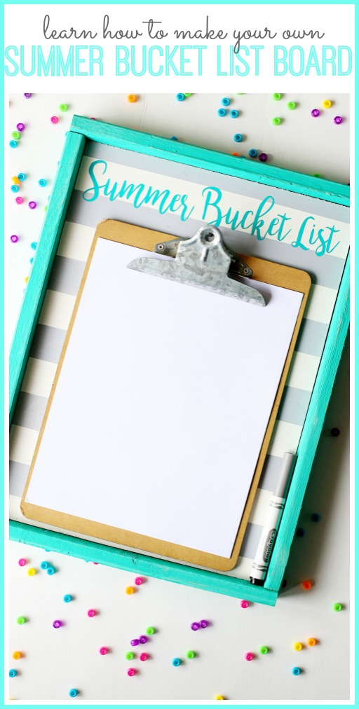 how to make your own bucket list display board