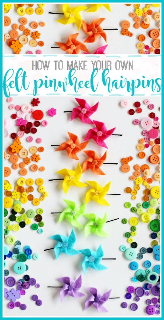 how to make your own felt pinwheel hairpins hairbows