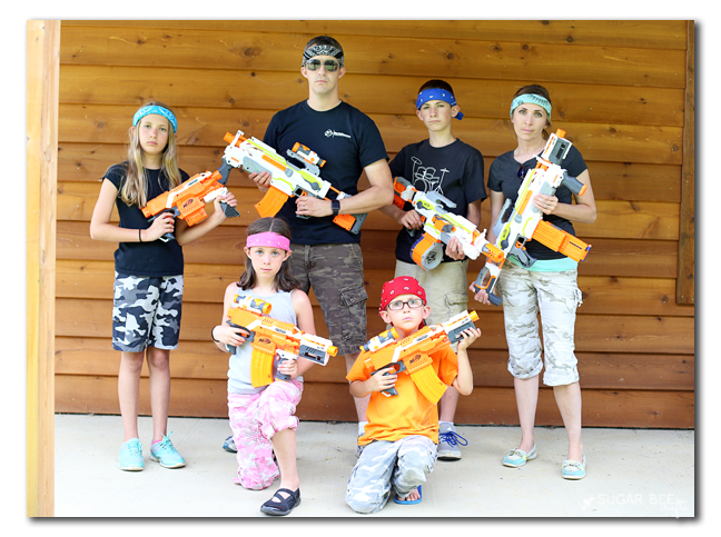 nerf blaster family battle