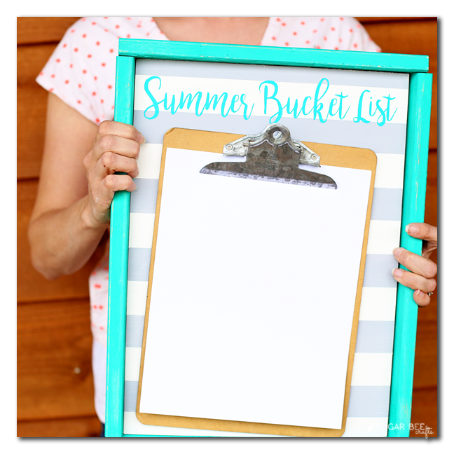 summer bucket list board blank