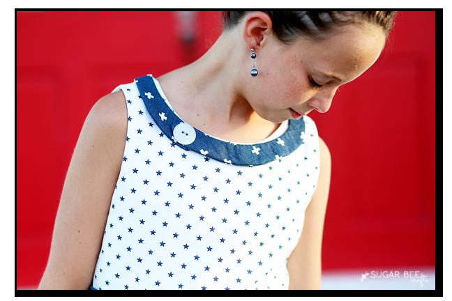 sundress neck binding details