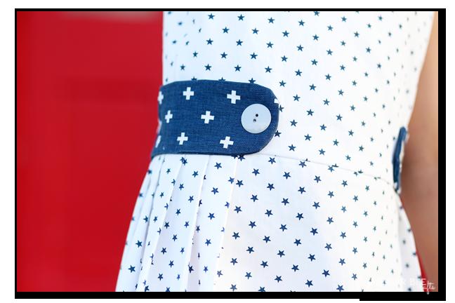 sundress side button detail