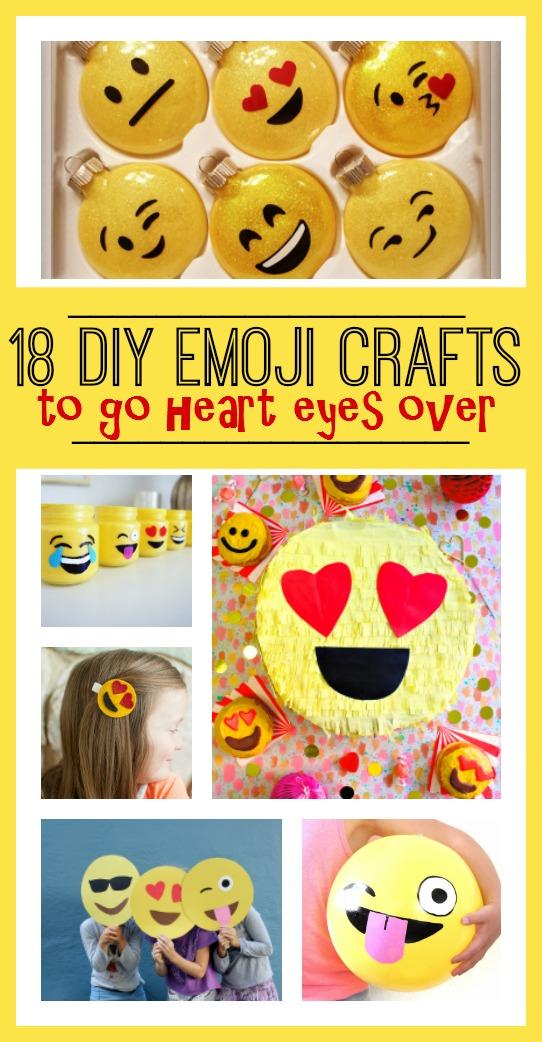 18 DIY Emoji Crafts