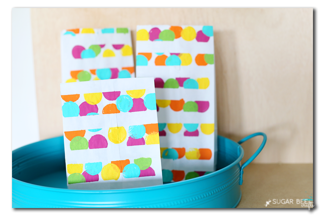dot painted lunchsack diy copy
