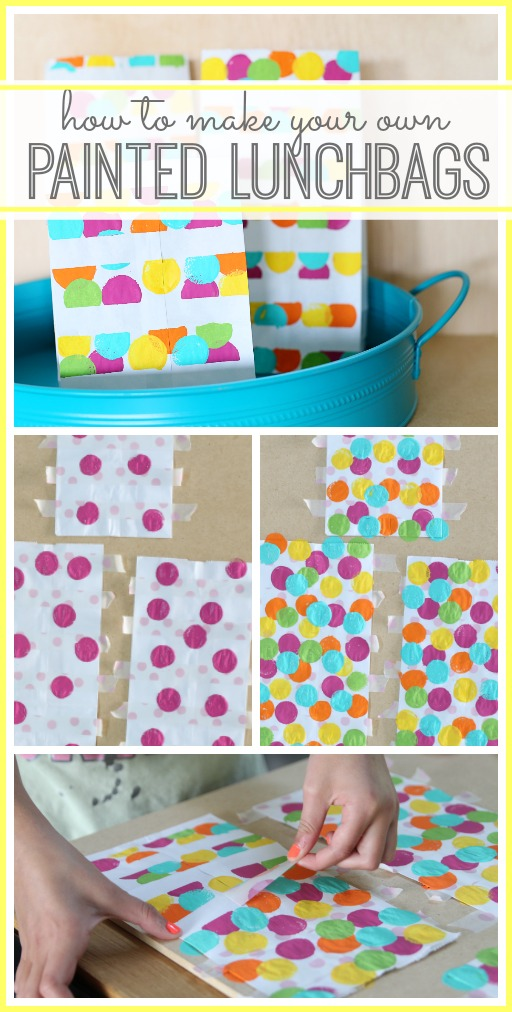 how to make your own painted lunchbags - a fun kids craft idea