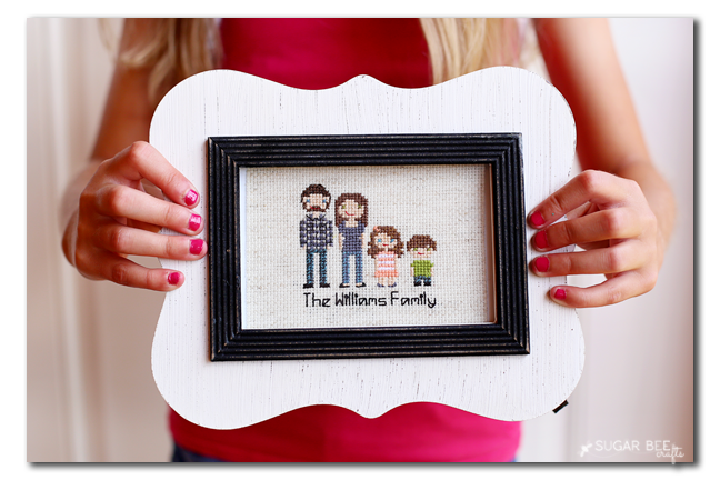 make your own cross stitch family