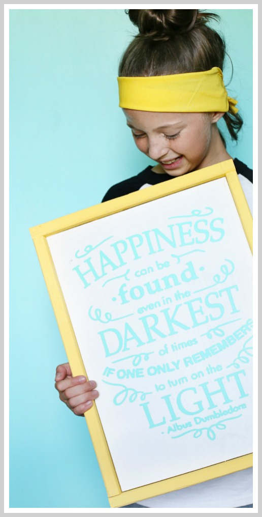 make your own harry potter quote sign craft, happiness can be found dumbledore
