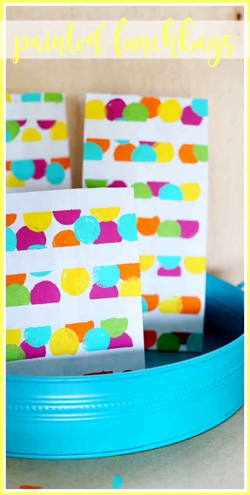make your own painted lunchbags for back to school