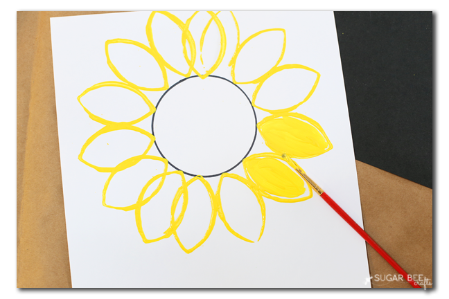 painted sunflower kids craft