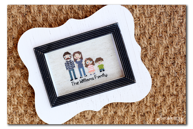 personalized customized stitched family
