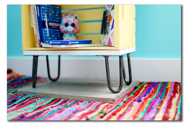 crate nightstand hairpin legs