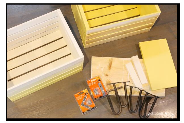 crate nightstand pieces