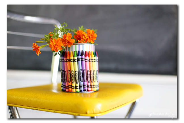 crayon can vase teacher gift