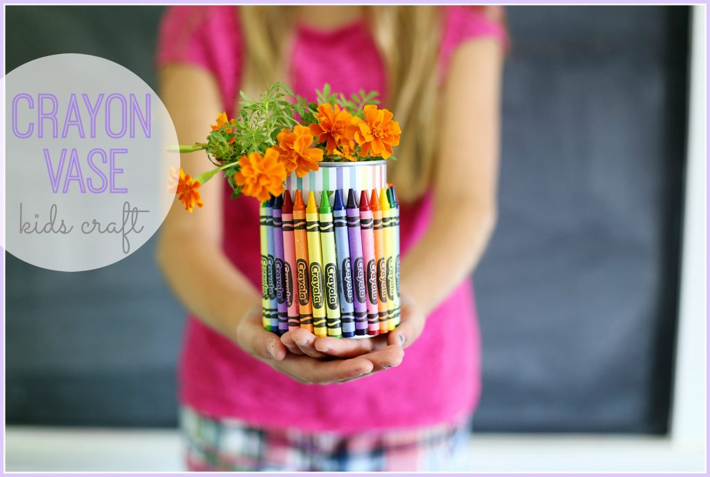 crayon vase kids craft