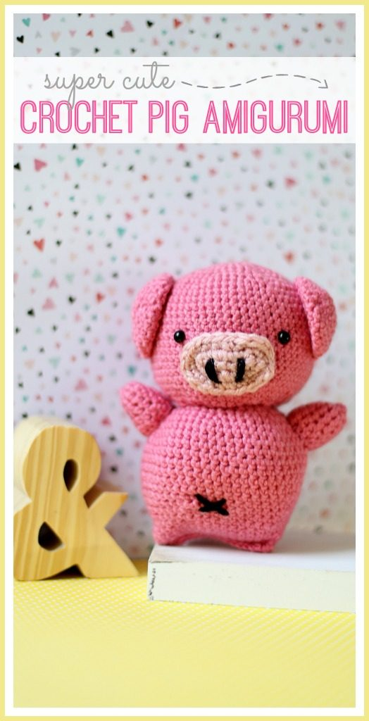 crochet pig amigurumi stuffed animal