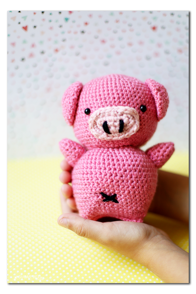 Crochet Pig Amigurumi Sugar Bee Crafts
