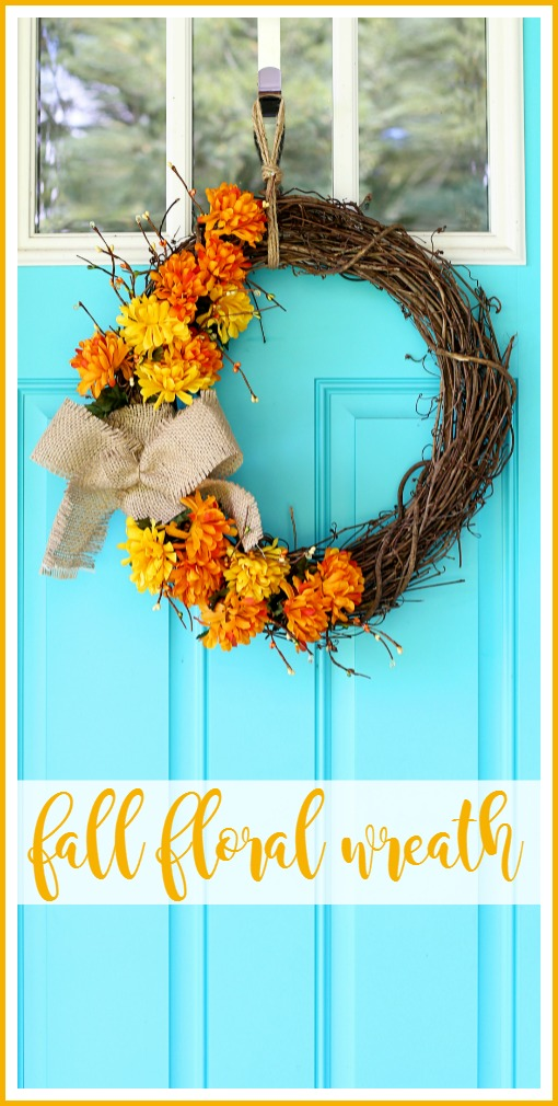 fall floral wreath craft idea