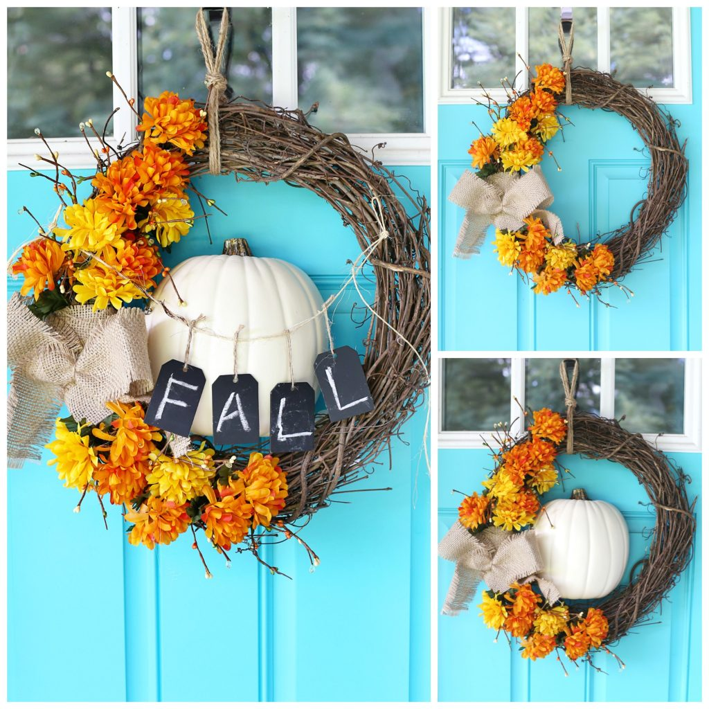 fall floral wreath variations